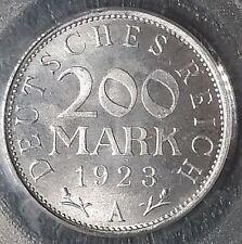 1923-A  200 Mark  Germany  PCGS MS 66.