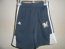 NEW-Mended  Adidas Milwaukee Brewers Kid's Medium M(5/6) Athletic Shorts