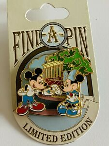 2008 New Disney Metal Pin FIND-A-PIN Series WDW Mickey & Minnie Limited LE 1000
