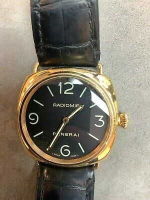 Panerai Radiomir Base 45mm PAM 231 Manual Wind Rose Gold with Black Dial Watch