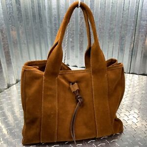 Matisse Leather Hobo Suede Brown Rust Large Two Handle Snap Adjustable Side