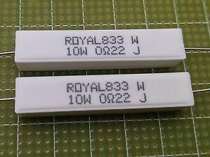 2x Resistenza Ceramica a Filo 2,2 ohm 10 watt  5/% Filtri audio Cross over