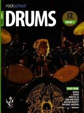 Rockschool Drums Grade 1 2018-2024 Sheet Music Book/Audio Exercises Tests Songs