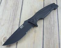 SMITH & WESSON MILITARY & POLICE FIXED BLADE HUNTING KNIFE WITH HARD SHEATH
