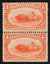 "US # 287 *UNUSED NG LH* { -VF- 4c INDIAN HUNTING BUFFALO } BEAUTY ""PAIR OF 1890"
