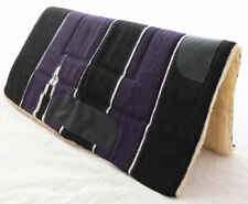 NEW Western PURPLE Saddle Thick Pad Blanket Navajo Western or Stock with Leather