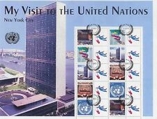 United Nations UN Personalized Sheet Stamp S5 Student Visit to UN 2005