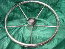 "BOSTON WHALER BOAT STEERING WHEEL 15.5 NEW CLASSIC 15-1/2"" WOW!! stainless steel"