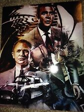 James Bond 8x10 Art Print by Rob Prior Comic Con Box Exclusive Connery & Craig