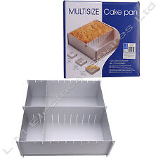"Deep Foldaway 12"" Inch Square Shape Multi Size Cake Tin Pan Baking Tray 2 Tiers"