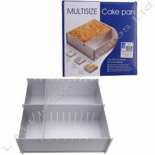 "Deep Foldaway 12"" Inch Square Shape Multi Size Cake Tin Pan Baking Tray 2 Tiers"