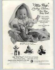 1963 PAPER AD Cameo Dolls Miss Peep New Born Baby Doll Kewpie
