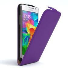 Tasche für Samsung Galaxy Grand Prime Flip Case Schutz Hülle Cover Lila