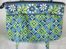 Vera Bradley DAISY Purse Blue Green Floral Narrow Shoulder Bag