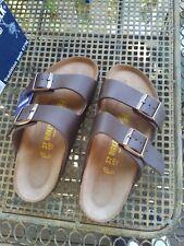 BIRKENSTOCK ARIZONA brown leather size 37 -NORMAL (regular fit) soft FOOTBED NEW