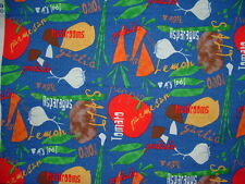 """""""Funky Kitchen"""" Cotton Fabric Vegetables & Herbs Sold by the Half Yard BTHY"""