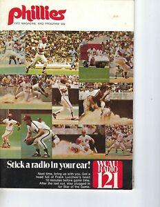 1972 9/16 baseball program Mont Philadelphia Phillies Mike Schmidt 1st career HR