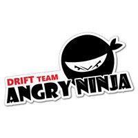 Angry Ninja Drift Team Sticker Decal JDM Car Drift Vinyl Funny Turbo
