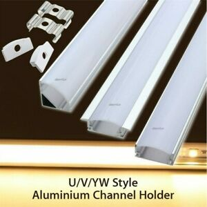 From 5 X 1.0 or 2.0M Aluminium LED Strip Light Channel Profile 3 style options