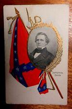 Vintage Jefferson Davis Confederate Postcard