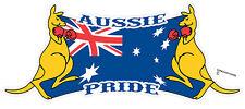 AUSSIE PRIDE BOXING KANGAROO BUMPER STICKER AUSTRALIAN FLAG AUSSIE PRIDE