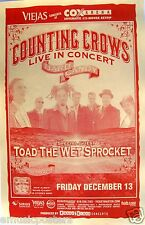COUNTING CROWS / TOAD THE WET SPROCKET 2002 SAN DIEGO CONCERT TOUR POSTER