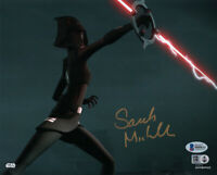 SARAH MICHELLE GELLAR SIGNED AUTOGRAPHED 8x10 PHOTO STAR WARS REBELS BECKETT BAS
