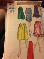 VOGUE Sewing Pattern 6828 Knee Maxi Modest Skirt 1960s Size 12-14 - UNCUT