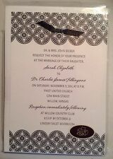 Hallmark Invitations Black and White Design Any Occasion Ribbon - Print at home