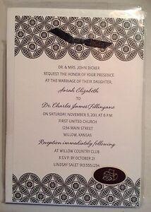 Hallmark Invitations Black and White Design Any Occasion Ribbon - Print at home