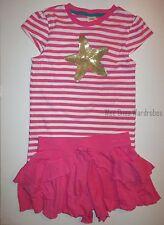 Gymboree Mermaid Party Sequin Star Tee Shirt Top Pink Shorts Set Girls 7 NEW NWT