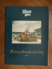 LILLIPUT LANE  -  1993 Katalog book (36 pages) - as new in GERMAN and RARE FIND