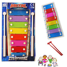 Xylophone Mini Metal Musical Piano Instrument Education Development Kids Child T