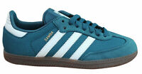 Adidas Originals Samba Mens Trainers Lace Up Shoes Blue Suede Textile CP9707 M4