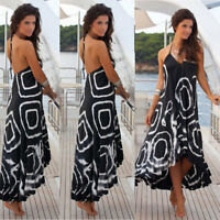 Women Maxi Boho Floral Summer Beach Long Dress Skirt Evening Cocktail Party