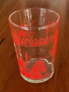 Vintage peanut butter 'Monkey Circus' drinking glass. Very good used condition.