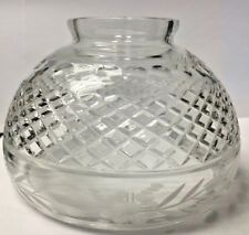 "Antique Frosted Etched Cut Glass 3 1/4"" Shade Lighting Lamp"
