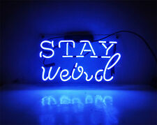 "Stay Weird Stuff Beer Bar Neon Sign Light Pub Home Wall Artwork Poster 15""x10"""
