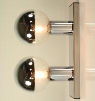 Staff Wand Decken Leuchte Chrom Glas Motoko Ishii Kollektion Lampe 70er