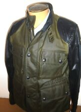Belstaff Wax Cotton with Leather Sleeves Motorcycle Jacket NWOT Small $1295