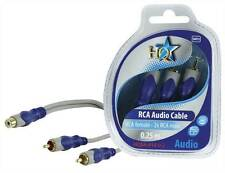 HQ High Quality RCA female to 2x RCA male cable 0.20m (20cm)