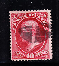 US O14 10c Executive Department Used VF w/ PSAG Cert SCV $800
