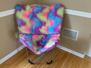 Rainbow Butterfly Chair Justice Chair For Kids, Teens, And College Dorms