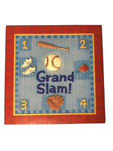 """Art Wall For Kids Room Grand Slam 11.5""""x11.5""""  USED in Good Condition SHIPS FREE"""