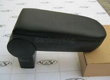 Leather Consoles Armrest Handrails Box for VW Jetta 99-04 Bora Golf MK4 Black