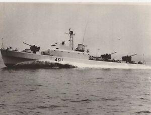 Ministero Difesa Marina Militare Motocannoniere 491 Foto Originale photo 1960