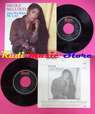 LP 45 7''NICOLE MCCLOUD Don't you want my love Shy boy 1985 holland no cd mc dvd