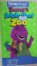 Barney's Alphabet Zoo Barney & Friends Collection Sing Along VHS tape children