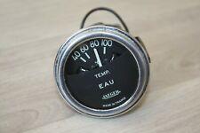 Manomètre température d'eau Jaeger 24 Volts Chromé Ancien Collection