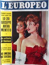 L' EUROPEO n°16 1957 copertina una parigina BRIGITTE BARDOT  [C76]